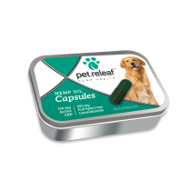 PET RELEAF CBD HEMP OIL CAPSULE150mg/10pk