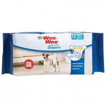Four Paws Wee-Wee Disposable Diapers 12pk - Medium