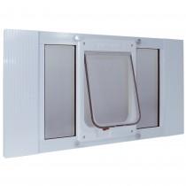 "Ideal Pet Products Aluminum Sash ChubbyKat Flap Pet Door Medium White 1.25"" x 15.06"" x 33"""