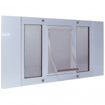 "Ideal Pet Products Aluminum Sash Pet Door Small White 1.75"" x 12.56"" x 33"""