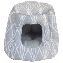 Arlee Sleepypet Hide N' Sleep Dome Bed Mola Grey Dog Bed 19x19x15