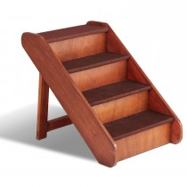 """PetSafe Solvit Deluxe Wood Stairs Large Brown 24"""" x 16"""" x 20"""""""