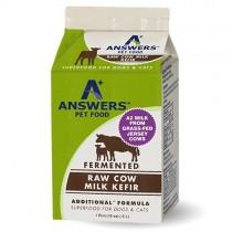 Answers Additional Fermented Raw Cow Milk Kefir Frozen Cat & Dog Supplement