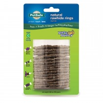 PetSafe Busy Buddy Rawhide Refill Rings Large Brown
