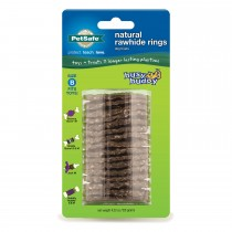 PetSafe Busy Buddy Rawhide Refill Rings Medium Brown