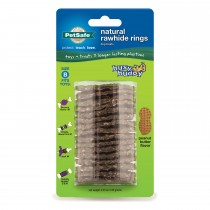 PetSafe Busy Buddy Peanut Butter Rawhide Ring Size B Brown