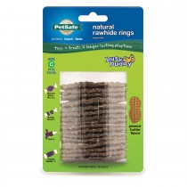 PetSafe Busy Buddy Peanut Butter Rawhide Ring Size C Brown