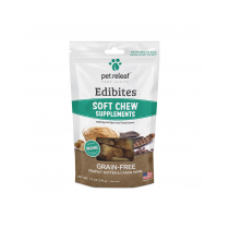 PET RELEAF EDIBITE SOFT CHEW PEANUT BUTTER  CAROB SWRIL  7.5oz