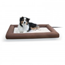 "K&H Pet Products Deluxe Lectro-Soft Outdoor Heated Pet Bed Large Brown 34.5"" x 44.5"" x 4.5"""