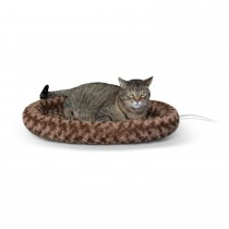 "K&H Pet Products Thermo-Kitty Fashion Splash Bed Large Mocha 16"" x 22"" x 2"""