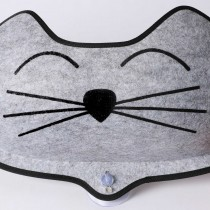 K&H Pet Products EZ Mount Kittyface Window Bed Gray 27'' x 8'' x 11''