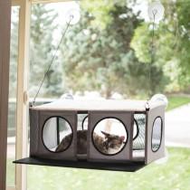 """K&H Pet Products EZ Mount Cat Penthouse Gray / Black 23"""" x 19"""" x 9.5"""""""