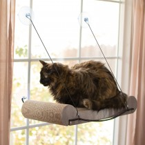"""K&H Pet Products EZ Mount Cat Scratcher Kitty Sill Tan 11"""" x 20"""" x 2"""""""