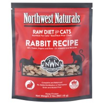 Northwest Naturals Rabbit Frozen Raw Cat Food 2LB