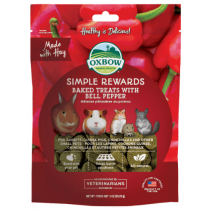 Oxbow Simple Rewards Bell Pepper Baked Treats 3oz