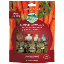 Oxbow Simple Rewards Carrot & Dill Baked Treats 3oz
