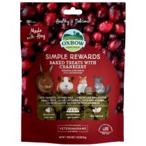 Oxbow Simple Rewards Cranberry Baked Treats 3oz