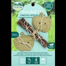 Oxbow Enrichment Timothy Hay Apples & Stix