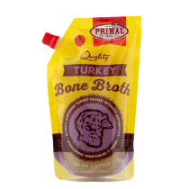 Primal Turkey Bone Broth For Cats And Dogs Frozen 20oz