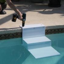 """Paws Aboard PoolPup Steps White 28"""" x 18"""" x 21"""" - PA-5300"""