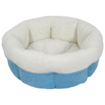Arlee Peanut Cuddle Cup Blue Dog Bed