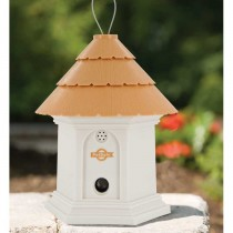 """PetSafe Deluxe Outdoor Bark Control House White / Brown 8"""" x 6"""" x 6"""""""