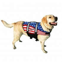 Pawz Pet Nylon Dog Life Jacket - Flag Small
