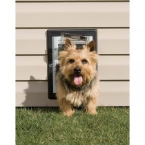 "PetSafe Wall Entry Aluminum Pet Door Small Taupe / White 9.25"" x 13"""