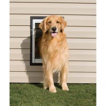 "PetSafe Wall Entry Aluminum Pet Door Large Taupe / White 14.25"" x 21.0625"""