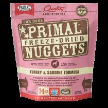 Primal Turkey & Sardine Freeze-Dried Raw Dog Food 14oz
