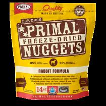 Primal Rabbit Freeze-Dried Raw Dog Food 14oz