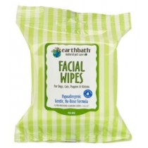 Earthbath Facial Wipes for Dogs, Cats, Puppies & Kittens 25ct