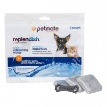Petmate Replendish Replacement Filters 3pk with 1 filter strap