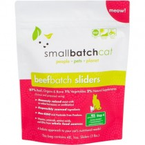 Smallbatch Beef Frozen Sliders Raw Cat Food 3LB
