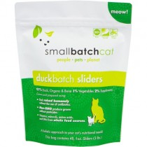 Smallbatch Duck Frozen Sliders Raw Cat Food 3LB