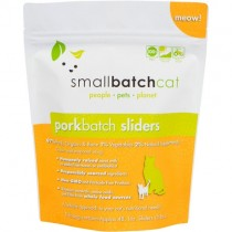 Smallbatch Pork Frozen Sliders Raw Cat Food 3LB