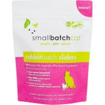 Smallbatch Rabbit Frozen Sliders Raw Cat Food 3LB