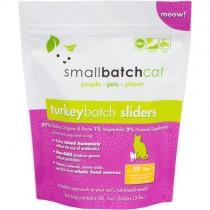 Smallbatch Turkey Frozen Sliders Raw Cat Food 3LB