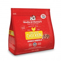 Stella & Chewy's Chicken Morsels Frozen Raw Dog Food 4LB