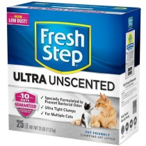 Fresh Step Ultra Unscented Clumping Clay Cat Litter 25LB