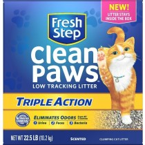 Fresh Step Clean Paws Triple Action Scented Clumping Clay Cat Litter 22.5LB