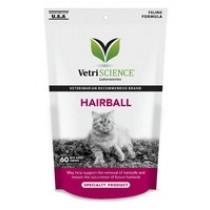 VetriScience Hairball Support Cat Chews 60ct
